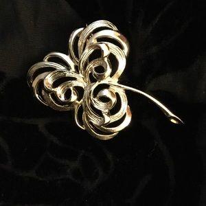 Beautiful Gold Brooch Pin